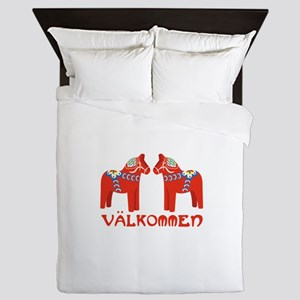 Swedish Horse Valkommen Queen Duvet