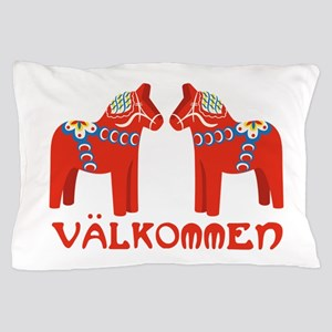 Swedish Horse Valkommen Pillow Case