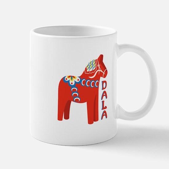 Swedish Dala Horse Mugs