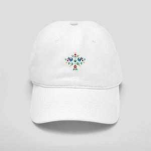 Bird Floral Border Baseball Cap