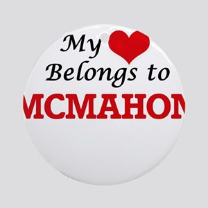 My Heart belongs to Mcmahon Round Ornament