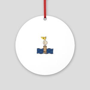Pelican Round Ornament
