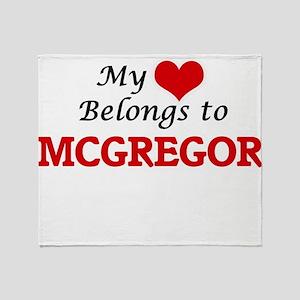 My Heart belongs to Mcgregor Throw Blanket