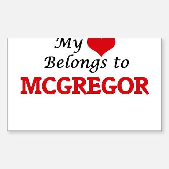 My Heart belongs to Mcgregor Decal