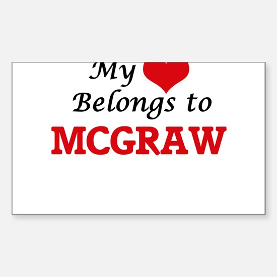 My Heart belongs to Mcgraw Decal