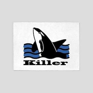 Killer Whale 5'x7'Area Rug