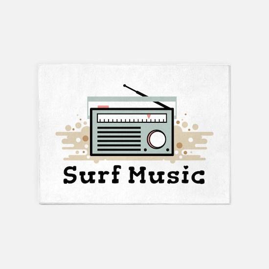 Surf Music 5'x7'Area Rug