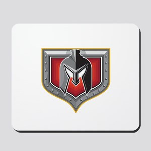 Spartan Helmet Shield Retro Mousepad