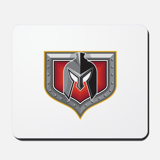 Spartan Helmet Shield Retro Mousepad