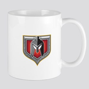 Spartan Helmet Shield Retro Mugs