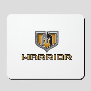Spartan Warrior Helmet Shield Retro Mousepad
