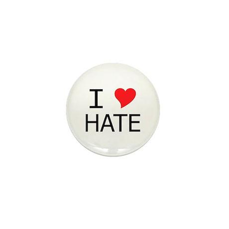 I Heart Hate Mini Button
