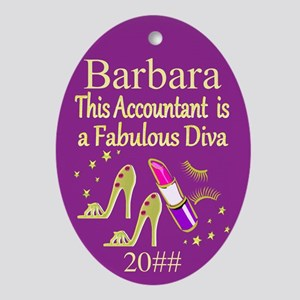 Best Accountant Oval Ornament