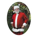 Santa at the North Pole Estate Oval Ornament