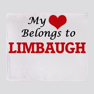 My Heart belongs to Limbaugh Throw Blanket