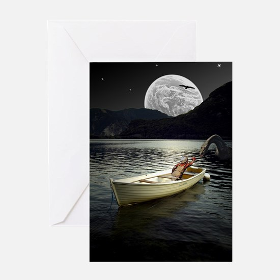 Loch Ness Collage Greeting Card