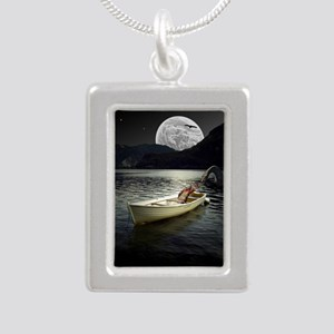 Loch Ness Collage Silver Portrait Necklace