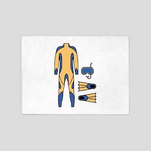 Snorkle Wetsuit 5'x7'Area Rug