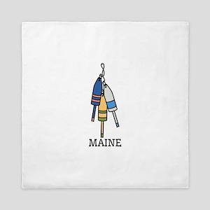 Maine Buoys Queen Duvet