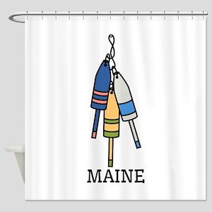 Maine Buoys Shower Curtain