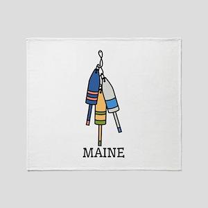Maine Buoys Throw Blanket