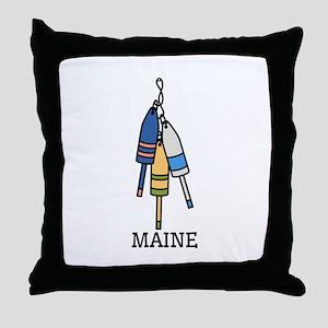 Maine Buoys Throw Pillow