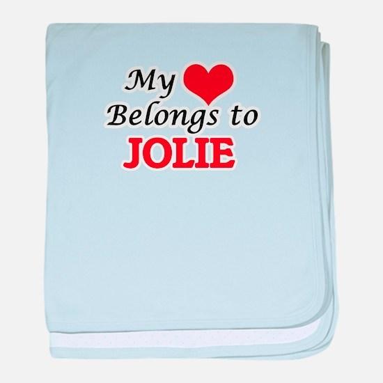 My Heart belongs to Jolie baby blanket