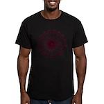 Men's Purple Heptadecagram Fitted T-Shirt