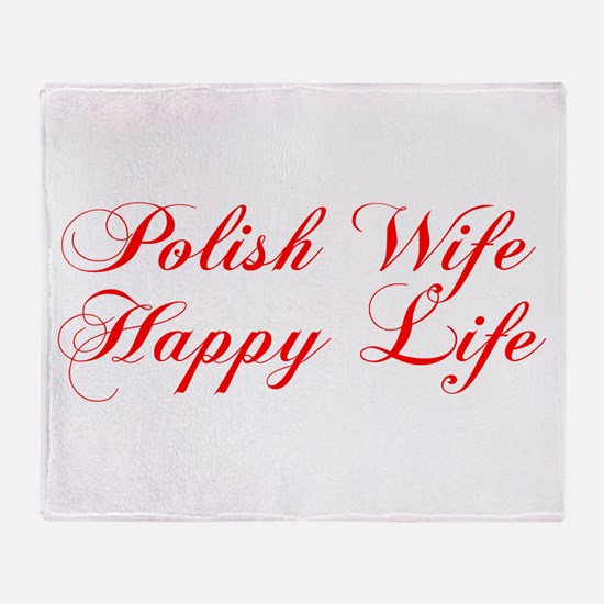 Polish Wife Happy Life Throw Blanket