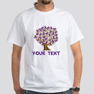 Purple Awareness Ribbon Personalized T-Shirt
