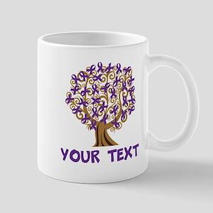 Purple Awareness Ribbon Personalized Mugs