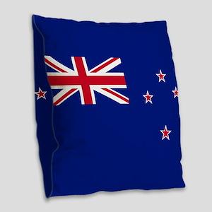 Flag of New Zealand Burlap Throw Pillow