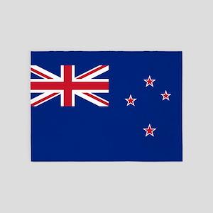 Flag Of New Zealand 5'x7'area Rug