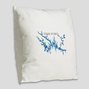 Tims Ford Lake Burlap Throw Pillow