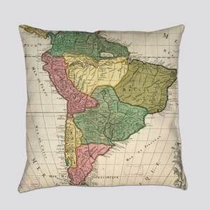 Vintage Map of South America (1691 Everyday Pillow