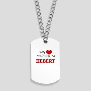 My Heart belongs to Hebert Dog Tags