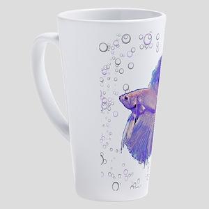 Iridescent Purple Fighting Fish 17 oz Latte Mug