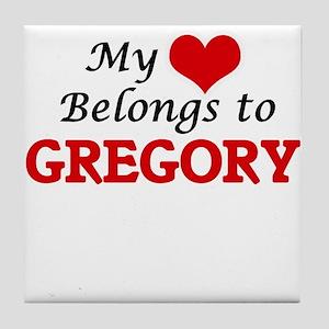 My Heart belongs to Gregory Tile Coaster