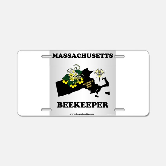 Massachusetts Beekeeper Aluminum License Plate