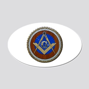 Masonic Square and Compass Wall Decal