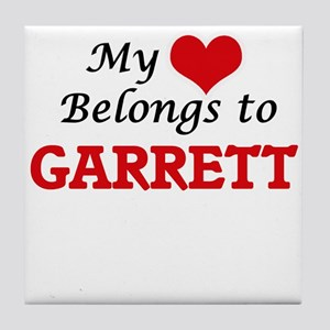 My Heart belongs to Garrett Tile Coaster