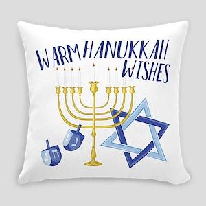 Hanukkah Wishes Everyday Pillow