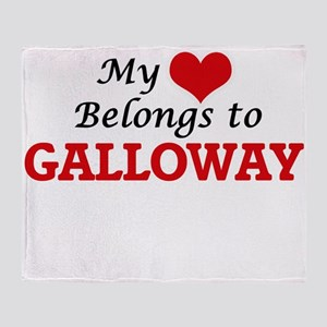 My Heart belongs to Galloway Throw Blanket