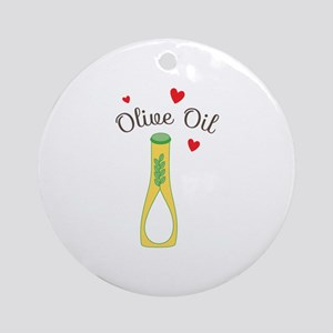 Olive Oil Round Ornament