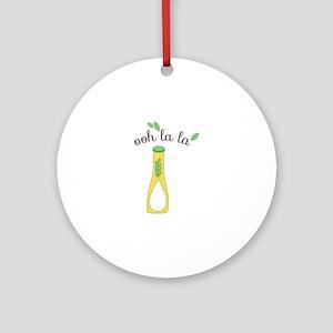 Ooh La La Oil Round Ornament
