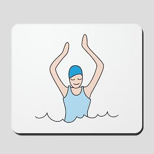 Lady Swimmer Mousepad