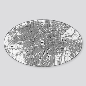 Vintage Map of Sheffield England (1823) Sticker