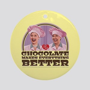 I Love Lucy: Chocolate Makes Everyt Round Ornament