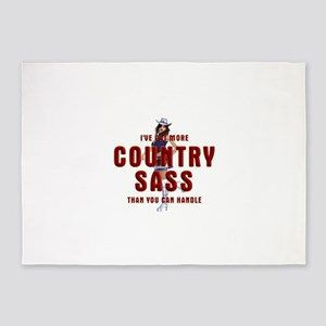Country Sass 5'x7'Area Rug