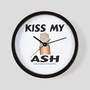 Kiss My Ash Cigar Wall Clock